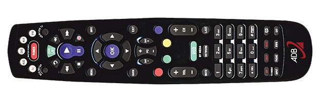 Black ABD TV Remote
